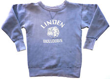 Vintage 50s Linden Bulldogs Single V Pullover Sweatshirt S USA Champion Athletic