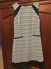 American Living White - Black Sleeveless Dress Size 10 Made Sri Lanka,