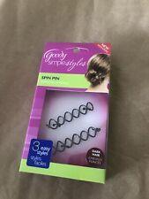Goody Simple Styles Spin Pin Dark Hair