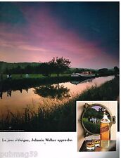 Publicité Advertising 1990 Scotch Whisky Johnnie Walker