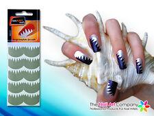 SmART-Nails - Big Teeth Nail Art Stencils N017 Professional Nail Product