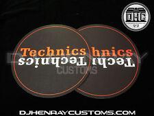 Technics Black, White & Red Dj Slipmats sl1200mk2 mk5 m3d m5g or any turntable