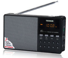 New Tecsun D3 Portable Rechargeable FM Radio with Micro SD TF MP3 Player