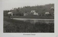 Vintage Real Photo Postcard - View of The Wessoneau Camps - Quebec Canada
