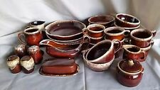Vintage Hull McCoy Brown Drip Dinnerware Pottery USA Replacements Lot 44 Pcs