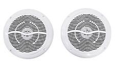 "Pair Rockville RMC65W 6.5"" 600 Watt Waterproof Marine Boat Speakers 2-Way White"