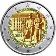 Oostenrijk 2016 2 euro commemo 200 jaar Nat. Bank UNC uit de rol !!!