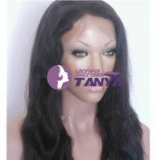 """Silky Natural Straight 12""""-24"""" 100% Indian Remy Human Hair Lace Front/Full Wig"""