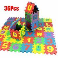 Puzzle tapis mousse 36 pièces Alphabet et chiffres Tapis de jeu enfants
