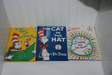 Dr Seuss Book Lot Of 3 Read with Eyes Shut, Thinks you can Think, Cat In The Hat