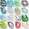 New 20pcs Faceted Teardrop glass crystal Jade Spacer beads 8x12mm 50 colors