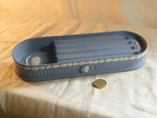 "Wedgwood "" Jasperware "" Blue Desk Tidy & Pen Tray, Beautiful item for your study"