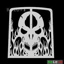 Skull Radiator Grille Guard Covers Stainless For Yamaha Banshee YFZ350 87-12 08