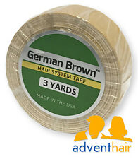 """German Brown Liner Cloth Hairpiece Tape Roll 3/4"""" x 3 yards toupee wig"""