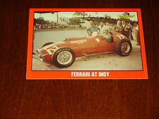 Legends Of Indy 1952 FERRARI V-12 RACE CAR  #60 Collector Card