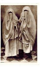 MAROC REAL PHOTO CPA POSTCARD CARTE POSTALE : MAROC FEMMES ARABES VOILEES