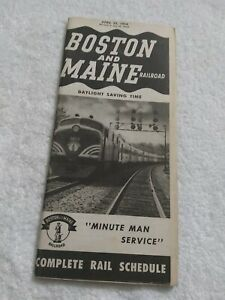 Boston And Maine Railroad Timetable (1954)