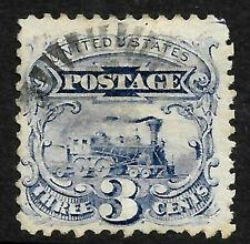 Sc #114 Grill Jumbo Margin Fancy Cancel 3 Cent Locomotive 1869 Pictorial US 7D24