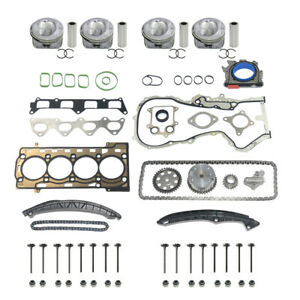 Engine Repair Kit Pistons STD + Timing Chain Kit + Head Gaskets Audi VW 1.4 TSI