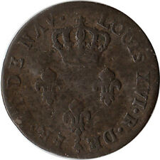 1782 French Guiana (Colony of Cayenne) 2 Sous Coin KM#1