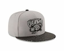 13cc760ec9d Era Vancouver Grizzlies 59fifty Gray Black Leather Rip Fitted Hat Cap 7 1 2