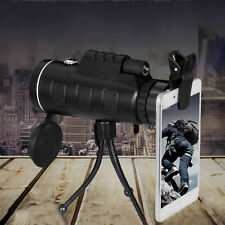 New High Power 40X60 Portable HD OPTICS BAK4 Night Vision Monocular Telescope~NK
