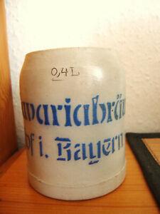 1 VK Bierkrug Brauerei Bavaria Hof , Bayern 0,4 Liter ca. um 1920