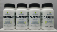 BODYLOGIX CAFFEINE PILLS x 4 BOTTLES*200mg*100 TABLETS EACH*NEW*SEALED*FREE SHIP