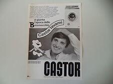 advertising Pubblicità 1968 LAVATRICE CASTOR BIO-SUPERMATIC