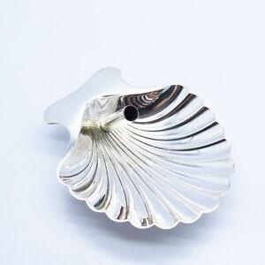 Tiffany & Co. Vintage Germany 925 Sterling Silver Seashell Pen Tray Holder Desk