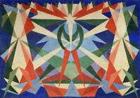 Stampa su Tela Printing on Canvas GIACOMO BALLA Cod 02 cm 70x100 papiarte