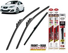 "Seat Ibiza Sportcoupe 2011-2016 full set  windscreen wiper blades 24""16""12"""