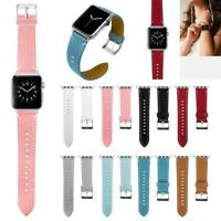 Leather Adjustable Watch Band Bracelet Strap Replacement for Apple iWatch 38mm