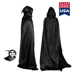 XHXseller Hooded Robe Coat Cape Cosplay Costume Unisex Gugel Hat Coat Masquerade Witch Hooded Cape Pagan Halloween Witch Wicca