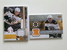 2 Upper Deck-MILAN LUCIC GAME JERSEY-WHITE+YELLOW
