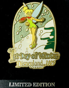 Disney Collector Pin Tinker Bell 1st Day of Winter 2005 LE 1500 Disneyland