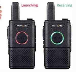 Set of 2 Ultra-Slim Two Way Radios with Earpiece
