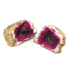 Stocking Filler! Looks like old rock! Opens Up to be a Pair of Geode Pink