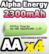 4 x 2300mAh AA RECHARGEABLE BATTERIES 1.2v Ni-MH LR6 PHONE SOLAR LIGHT POWERFUL