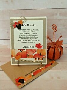 Stampin up- AUTUMN FRIEND- OCTOBER  2020 Kit of the Month-Set of 4