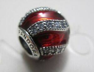 New! Authentic Pandora Red Adornment Enamel 791991EN07 Christmas Ornament Charm
