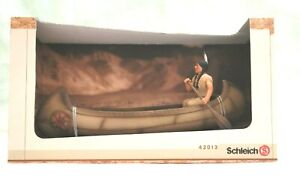 SCHLEICH 42013 VINTAGE RARE CANOE WITH FIGURE