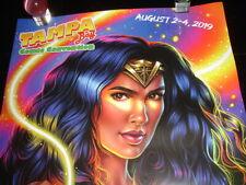 Gal Gadot comic art Wonder Woman poster Tampa Bay mego Dc movie Morgan Davidson