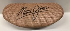MAUI JIM Eye Glasses Case Faux Bamboo Hard Clam-shell Case Only Sunglasses