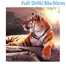 UK Full Drill 5D Diamond Painting Rest Tiger Embroidery Cross Crafts Stitch Kit