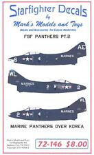 Starfighter Decals 1/72 GRUMMAN F9F PANTHER MARINE PANTHERS OVER KOREA