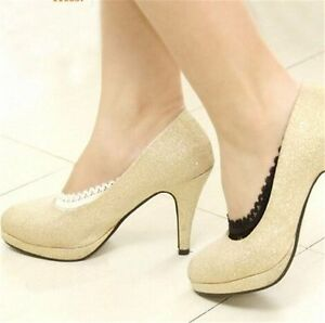 1-5 Pairs Women Cotton Lace Non Slip Invisible Liner No Show Low Cut Ankle Socks
