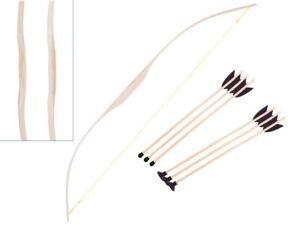 Spielbogen aus Eschen-Holz für Kinder Holzbogen Pfeil und Bogen Bogenschießen
