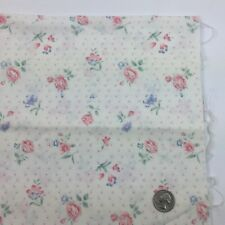1/2 Yd Pink Floral Flowers Romantic Quilting Fabric