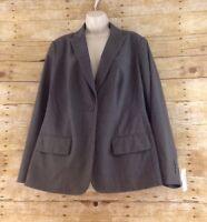 NWT Roz & Ali Jacket Blazer Womens Size 14 Surgeon Cuff Polyester Blend Stretch